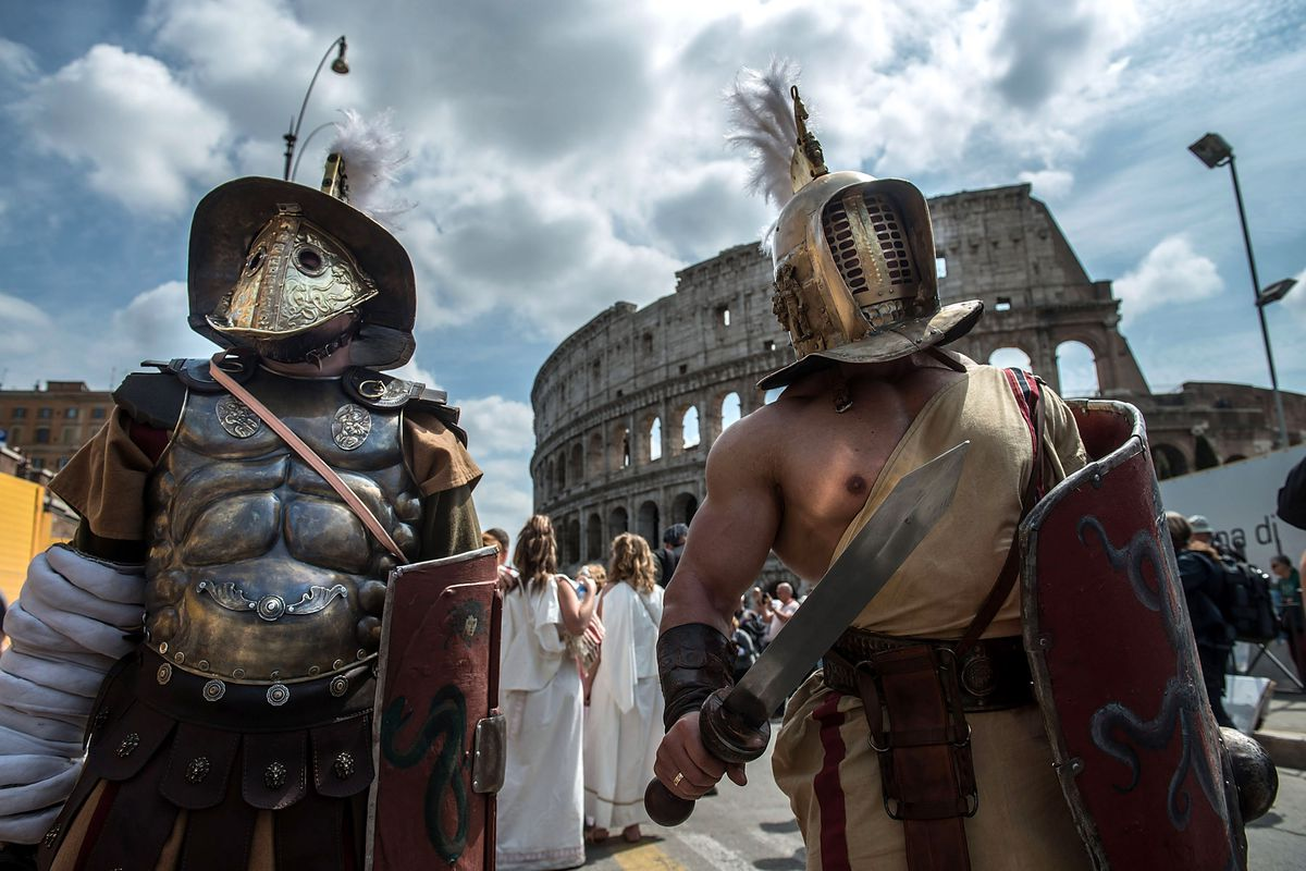 The People Of Rome Hold Their Annual Celebrations On The Anniversary Of Its Founding