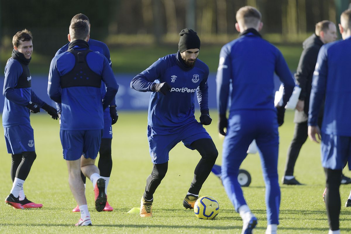 Andre Gomes Returns To First Team Training Everton Press Conference