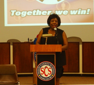 Former school board member Teresa Jones.