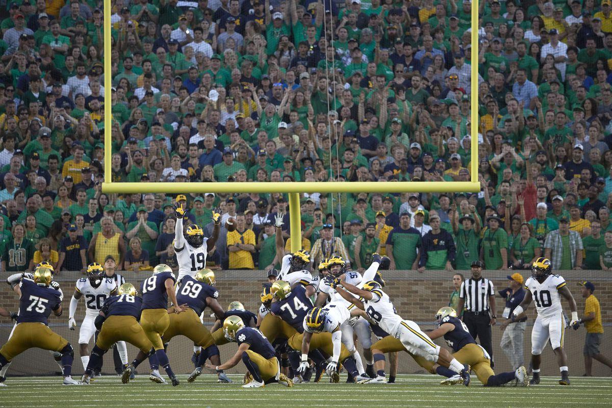 University of Notre Dame vs University of Michigan