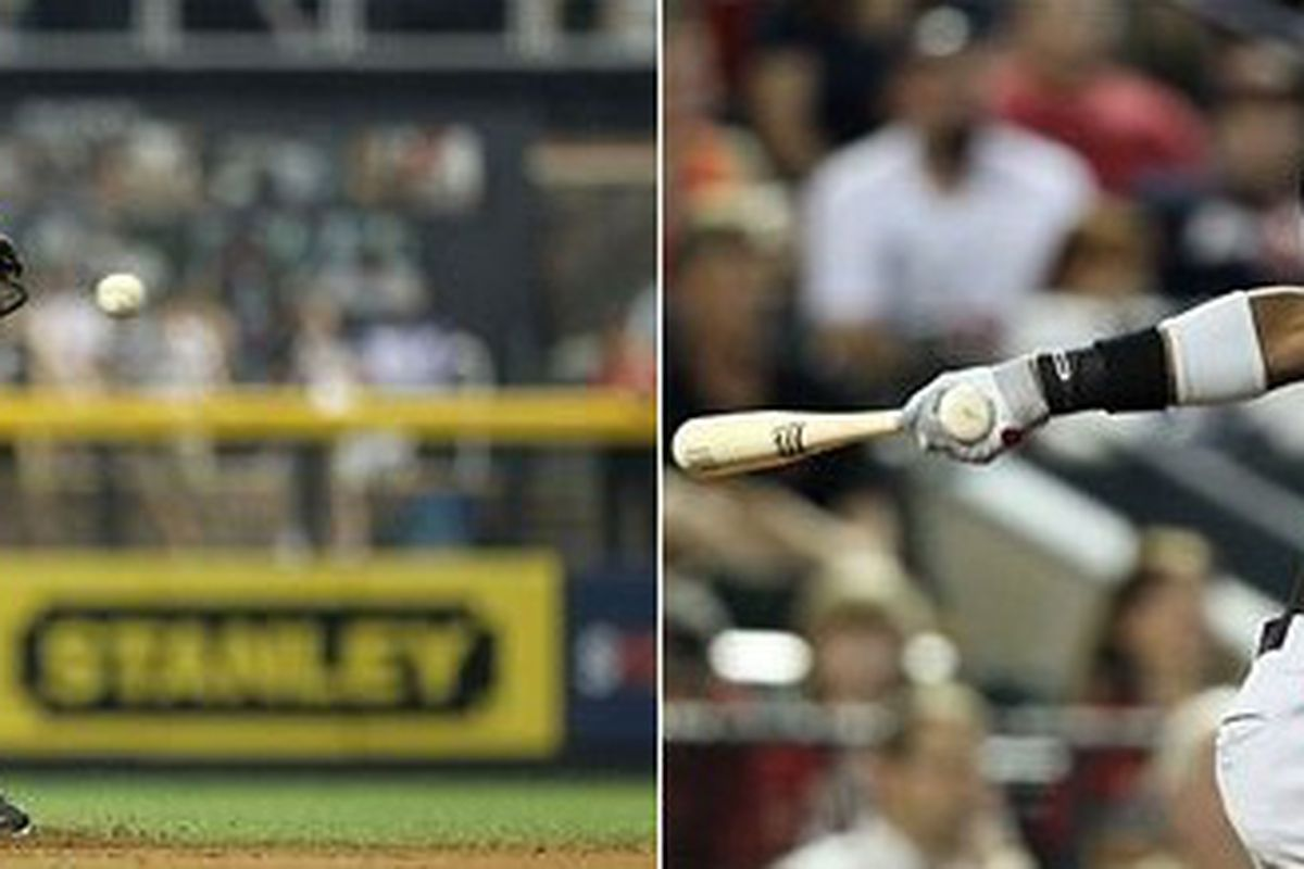 Baltimore Orioles shortstop prospect Manny Machado (left) and Texas Rangers shortstop prospect Jurickson Profar (right). (Photos by Jeff Gross [Machado] and Christian Petersen [Profar], courtesy Getty Images)
