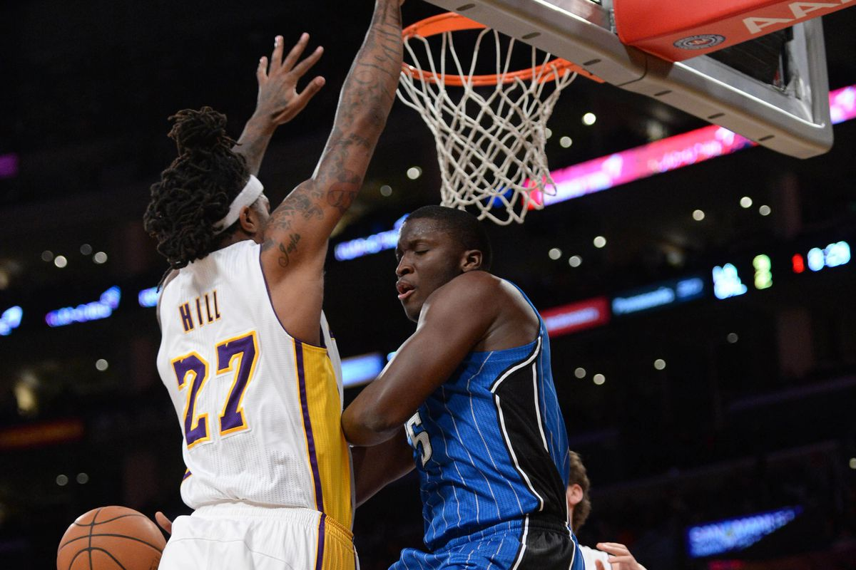 online retailer bd4ac 09fee Magic final score  Jordan Hill leads Lakers to 103-94 victory over Orlando