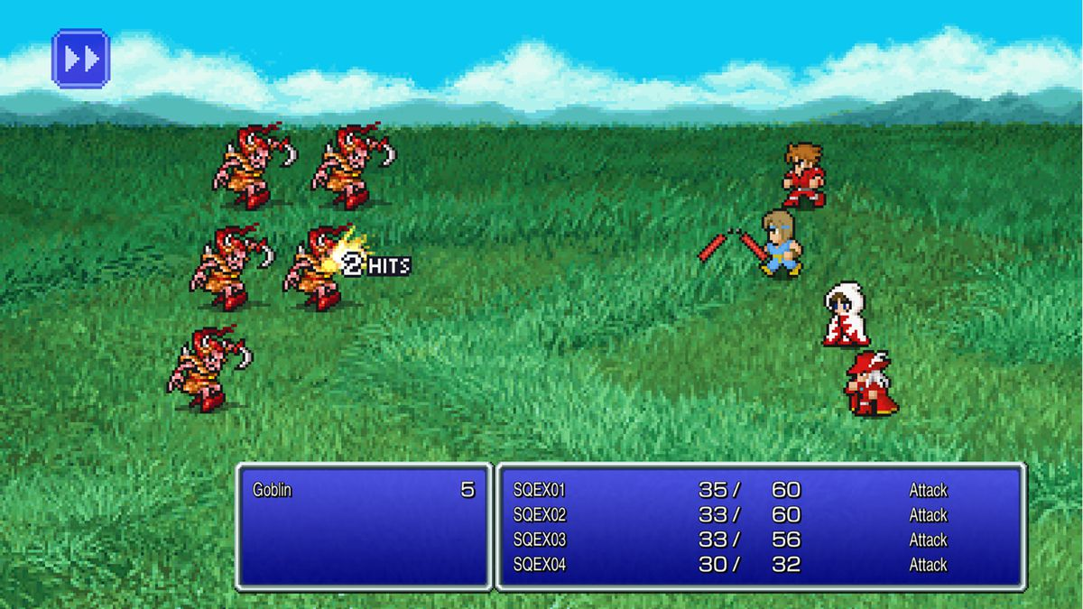 Fighting in the Final Fantasy 1 remaster