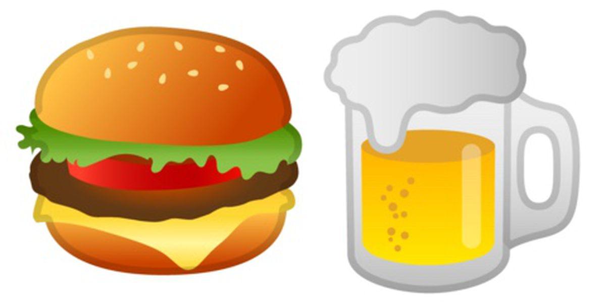 Google Burger Beer Emoji Android 8 1 Fix Release Date on Lettuce Clip Art