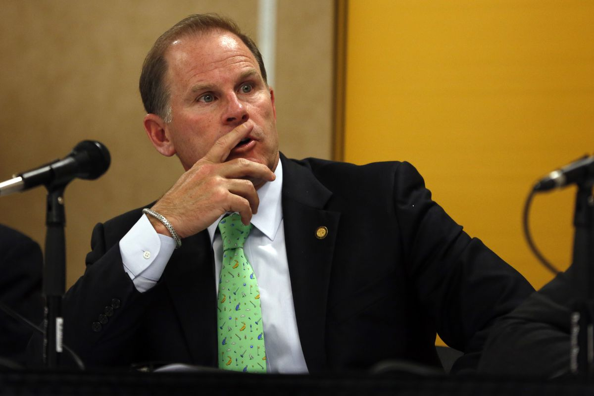 Tim Wolfe, who just resigned as University of Missouri president, in April 2014.