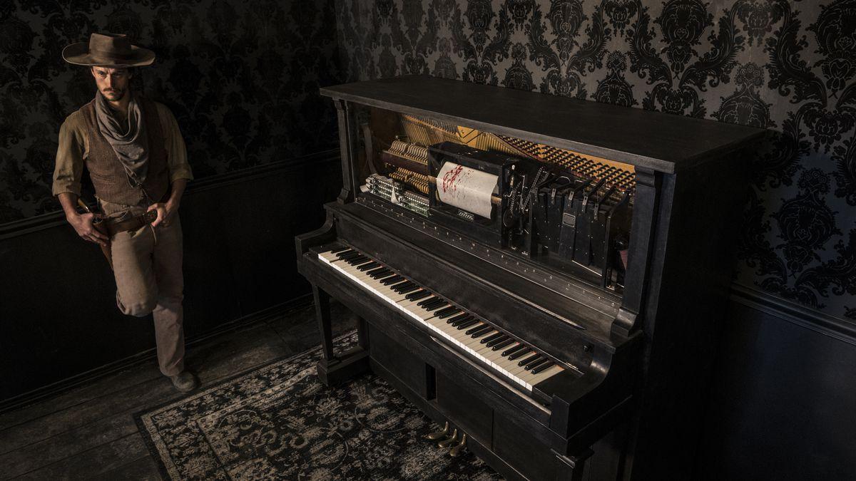 The piano at the Mariposa Saloon