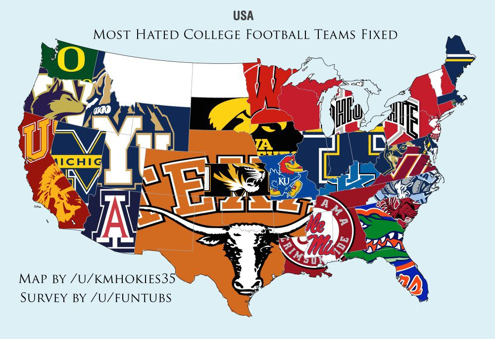 college football hate map
