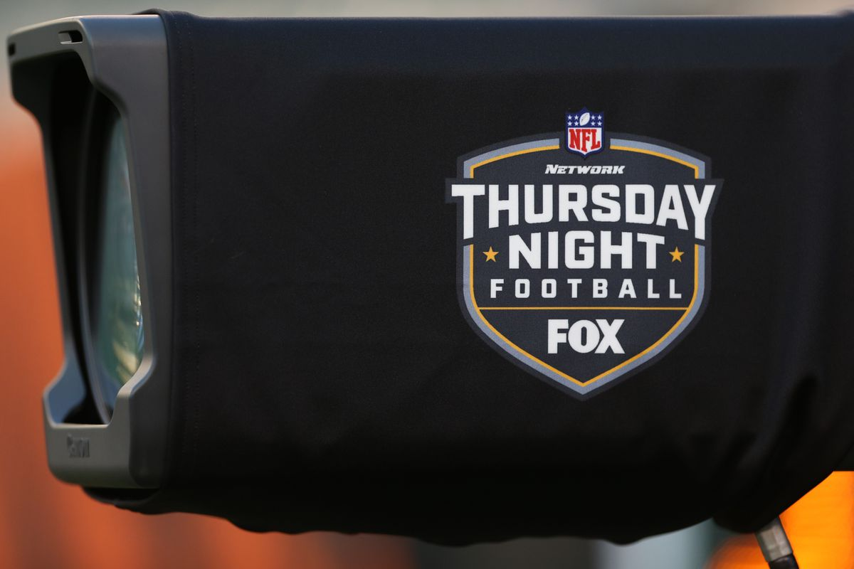 A TV camera with the Thursday Night Football logo sits before the game against the Baltimore Ravens and the Cincinnati Bengals on September 13th 2018, at Paul Brown in Cincinnati, OH.