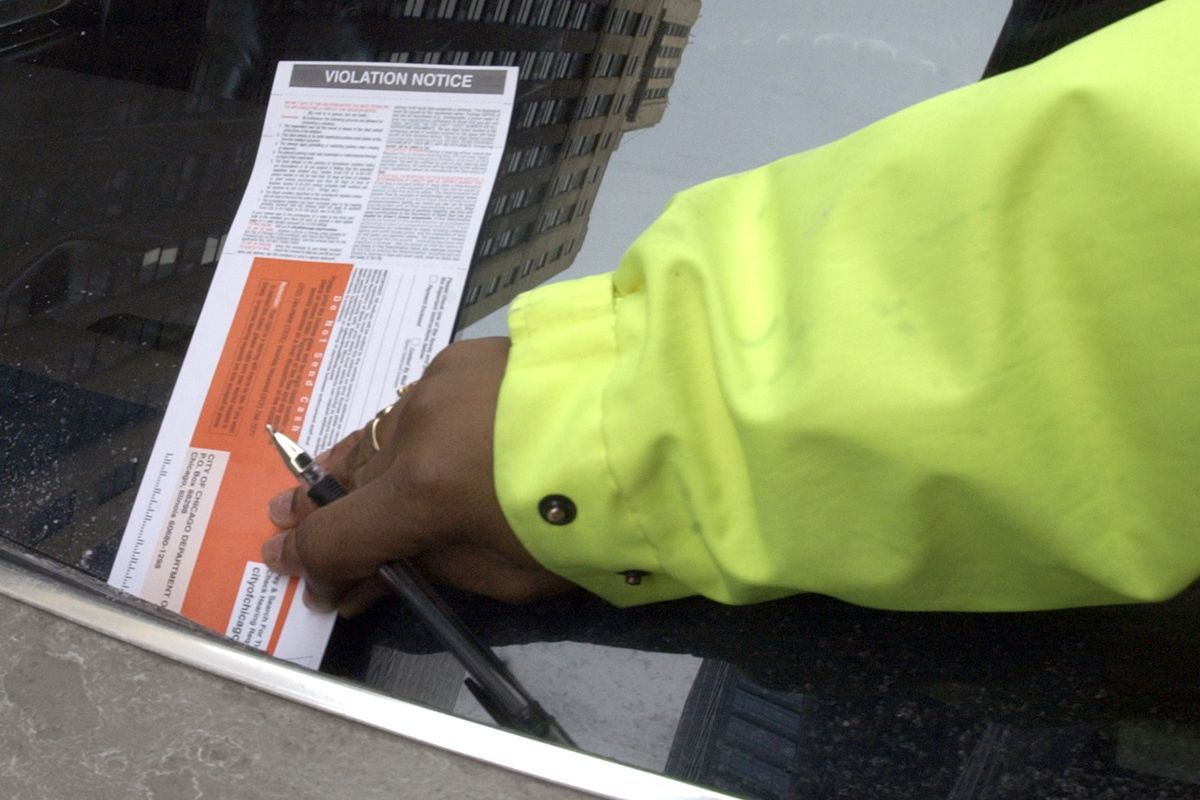 A city of Chicago parking ticket