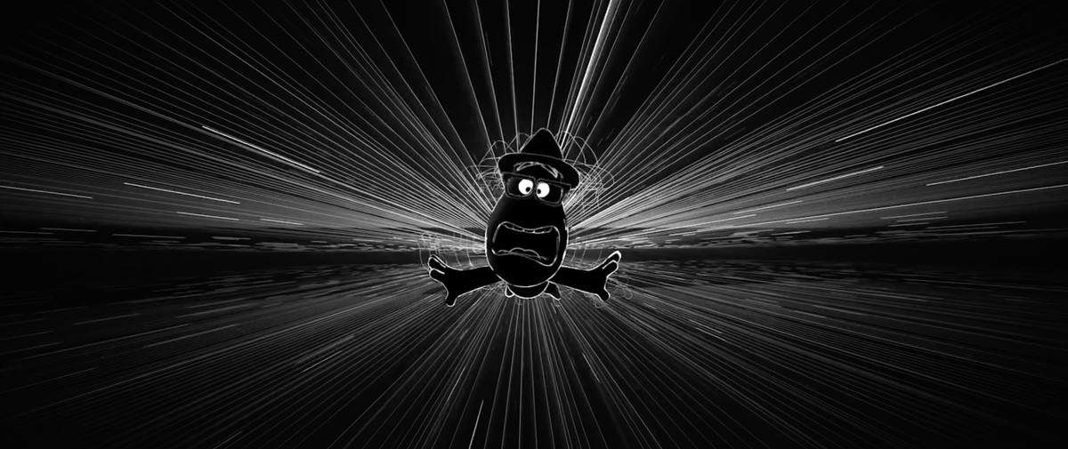 a soul hurtling through time and space in Pixar's Soul
