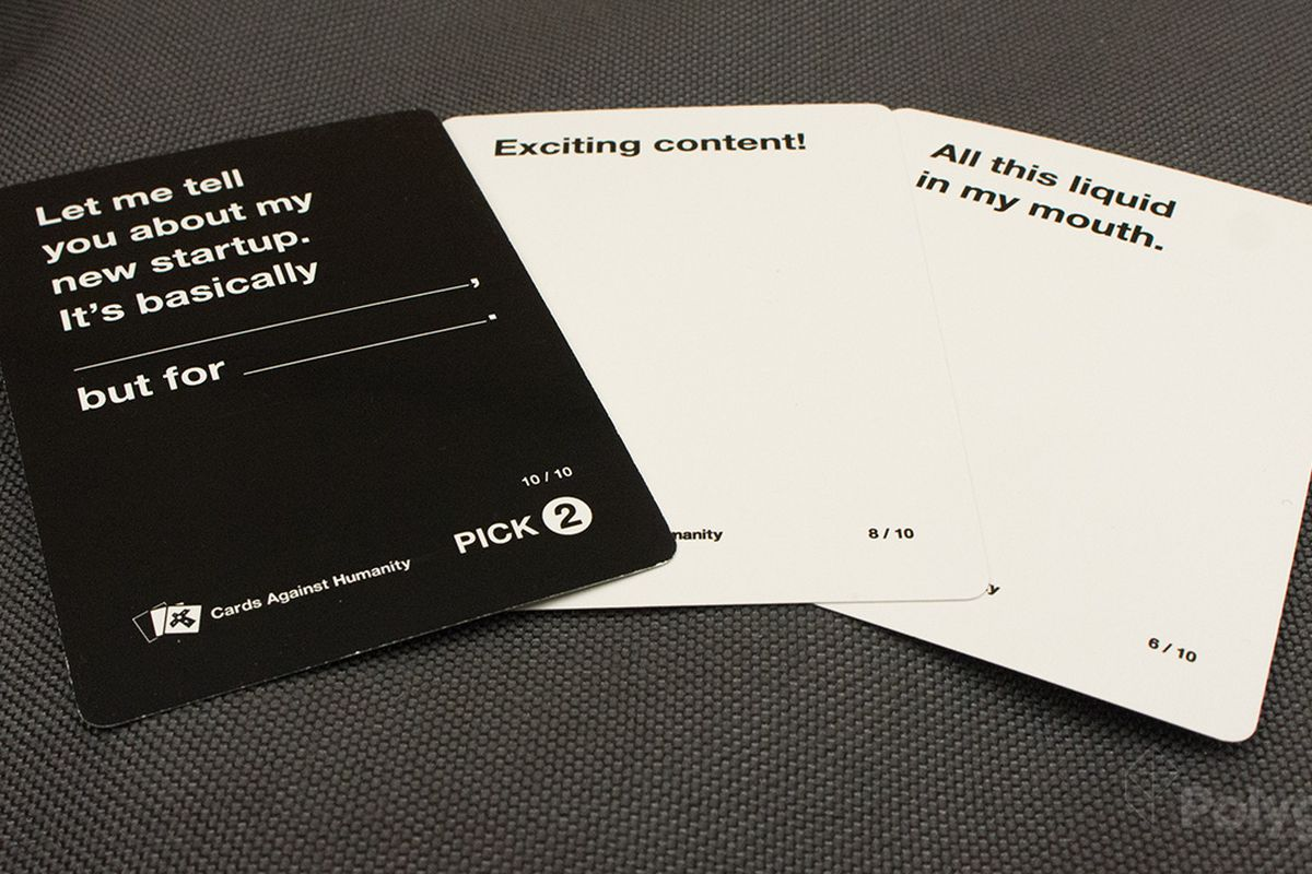 Cards against humanity is free online starting this weekend polygon cards against humanity will be free on smartphone tablets and windows pc this weekend following the launch of web app cards against originality business magicingreecefo Gallery