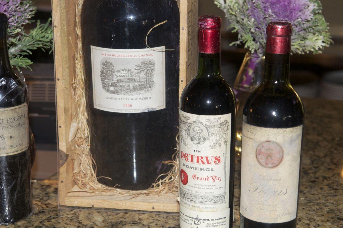 1811 Chateau d'Yquem, 1900 Chateau Lafite and a 1947 Petrus, 3 bottles, $94,500