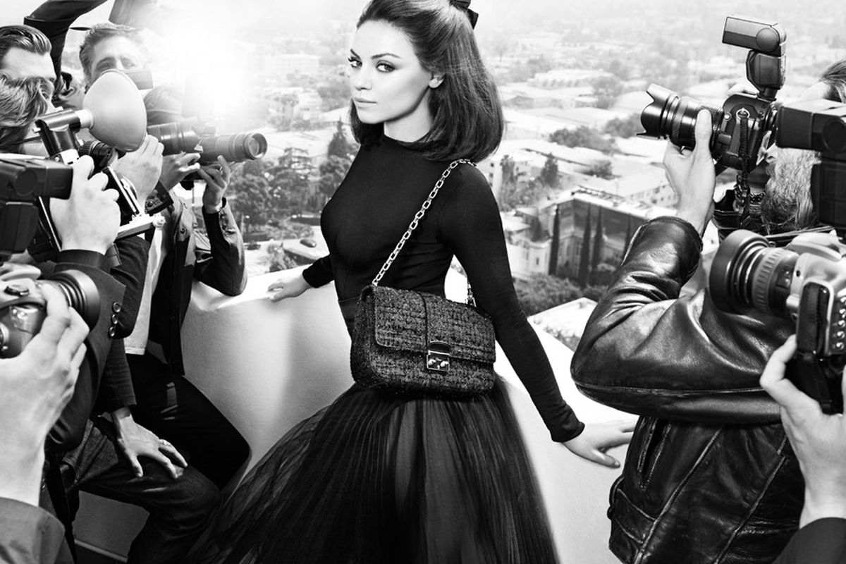 Mila Kunis does a second turn as the Miss Dior girl. Photographed in Los Angeles by Mario Sorrenti with styling by Carine Roitfeld. Via WWD