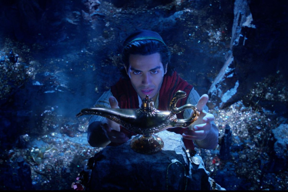 aladdin in the cave of wonders in the aladdin live-action remake