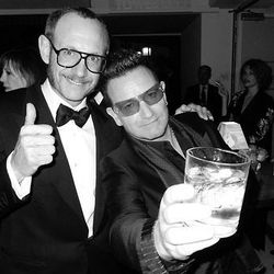Terry Richardson and rock icon Bono.
