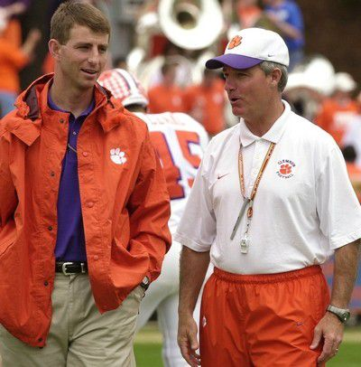 Head Coach Tommy Bowden (right) & Assistant Coach Dabo Swinney (left) at Clemson [http://www.postandcourier.com/storyimage/CP/20150721/PC20/150729858/AR/0/AR-150729858.jpg&maxw=400&q=90]