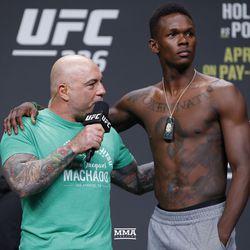 Israel Adesanya at UFC 236 weigh-ins.