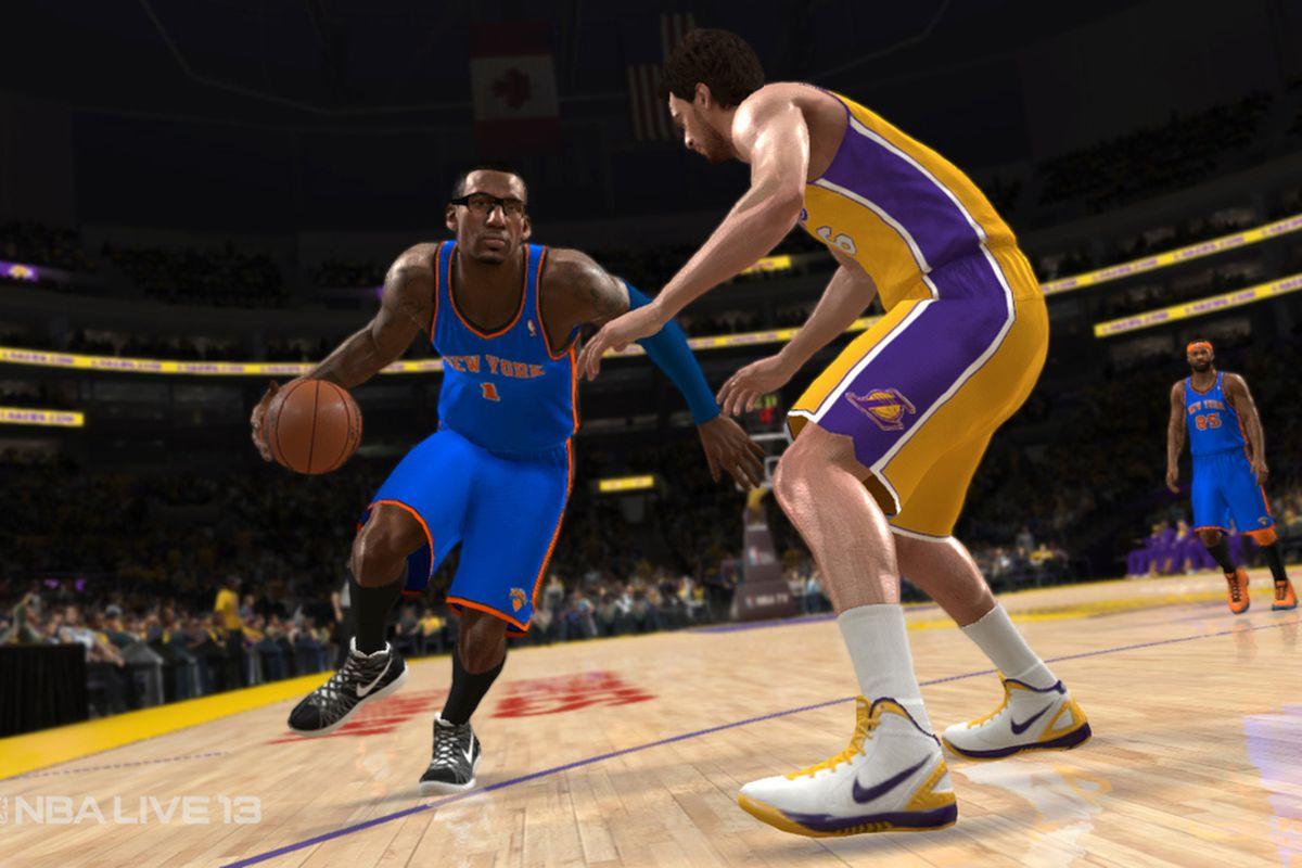 NBA Live 13 Stoudemire Gasol