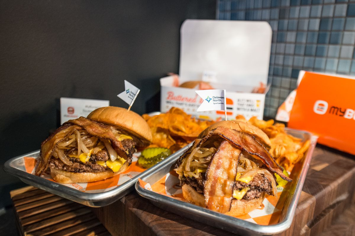 Myburger Double Burger available in the Brew Hall