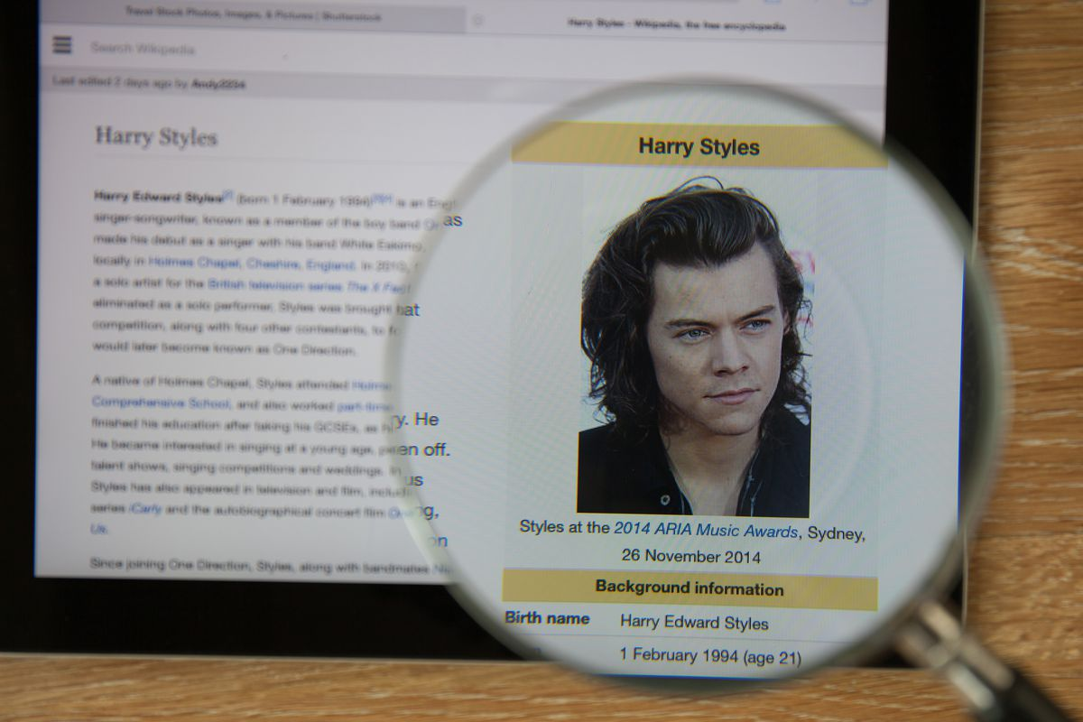 Harry Styles: the only Wikipedia page that matters