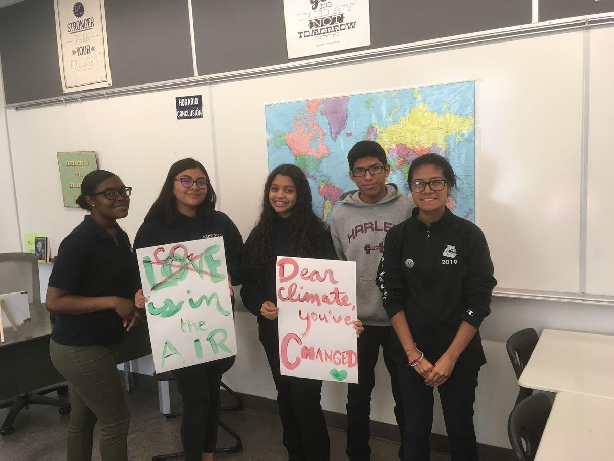 The environmental club at KIPP NYC College Prep High School