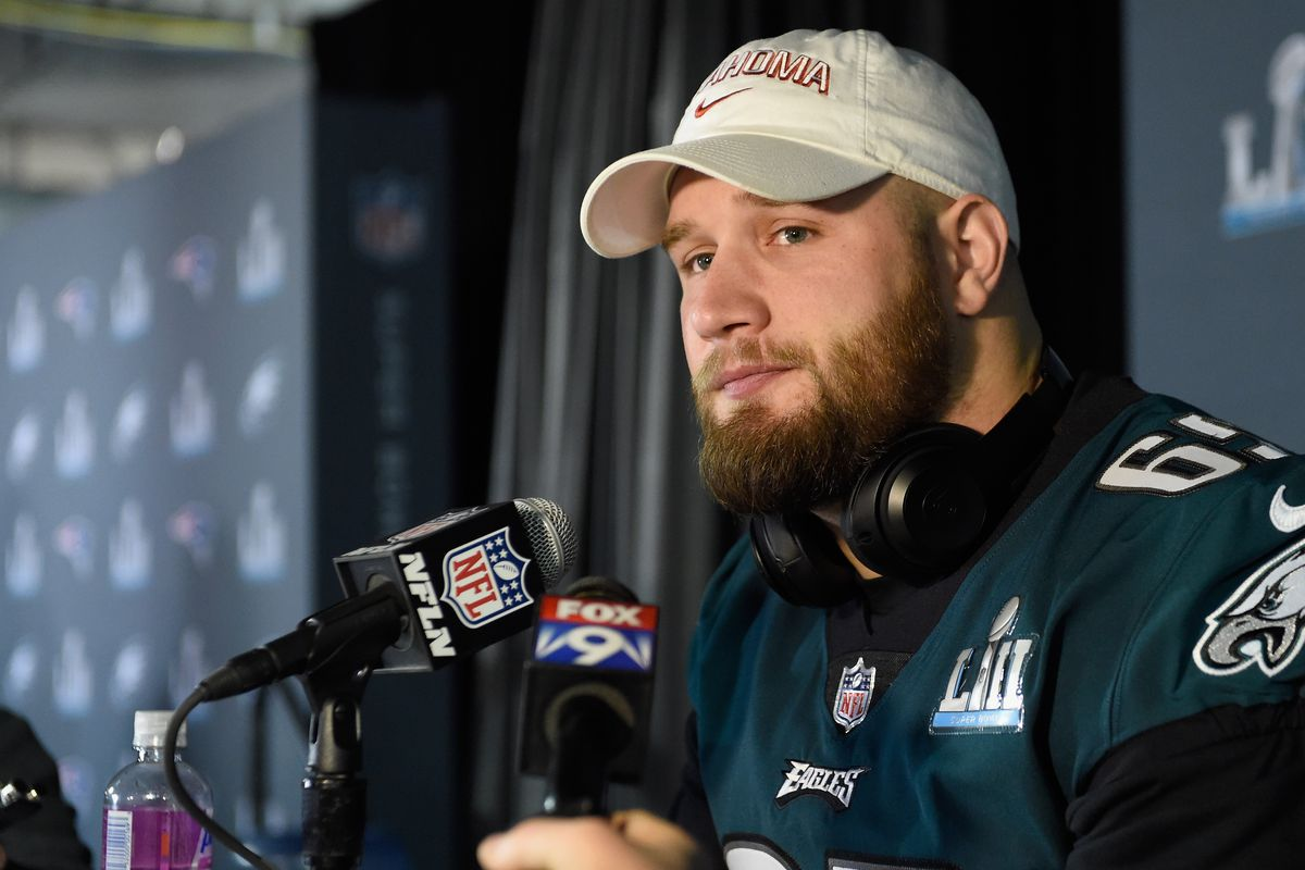 12f94915760 Lane Johnson talks trick play designed for him, drinking beer with Carson  Wentz, and more Eagles topics