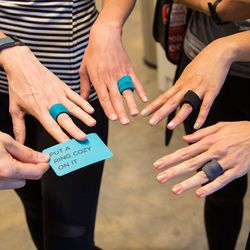 """How clever are these <a href=""""http://www.theringcozy.com"""">Ring Cozies</a> made by Racked reader Ana Maria Munoz? She's hooking up fellow fitness fiends with 10% off her bling-protecting accessories; use code """"RACKEDLA"""" at checkout <a href=""""http://www.ther"""