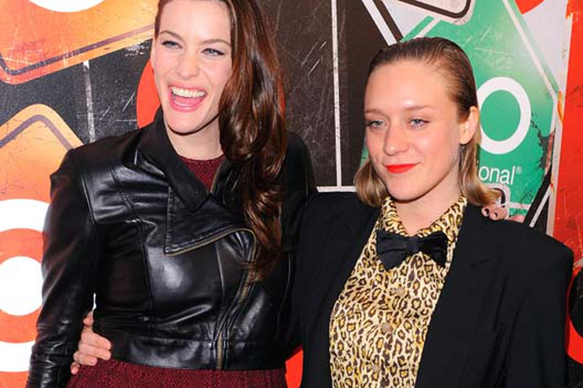 Liv Tyler and Chloë Sevigny at last night's Target launch at the Ace Hotel. Via Getty.