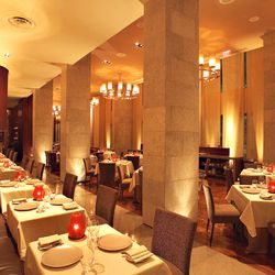 CityZen at the Mandarian Oriental is not only one of Washington's finest restaurants, but frequently cited for its beauty. There's an open kitchen, 20-foot ceilings and a warm tone all around. [Photo: CityZen]