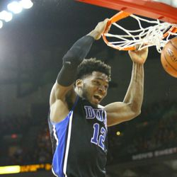 Justise Winslow puts down a dunk to seal the deal against the Badgers