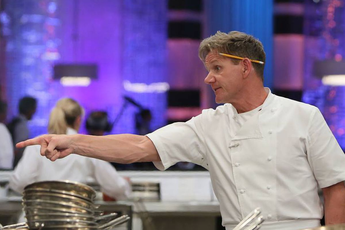 Chef Ramsay doing what he does best.