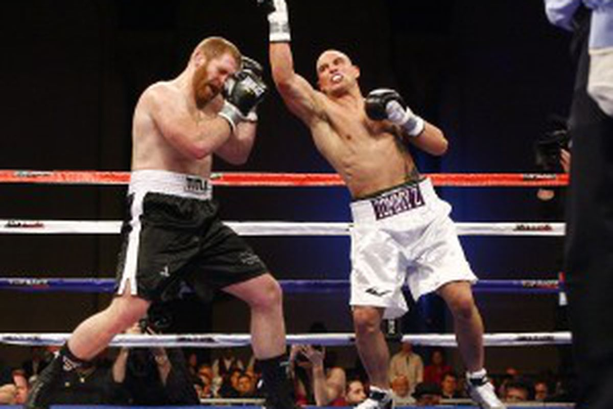 "Tommy ""Z"" Zbikowski in the boxing ring"