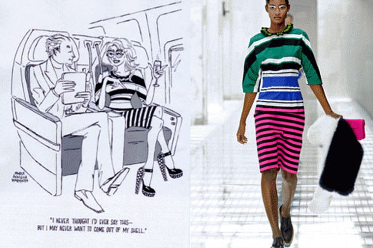 """Image via <a href=""""http://fashionista.com/2011/02/is-it-just-me-or-is-this-cartoon-lady-in-the-airfrance-ads-is-wearing-spring-2011-prada/"""">Fashionista</a>"""