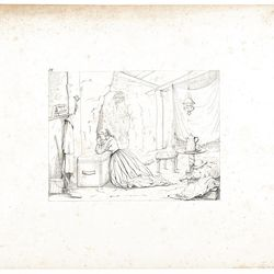 """""""Cave Life in Vicksburg"""" (1864 is a lithograph created by dentist, artist and Southern sympathizer Abalbert Volck during the American Civil War. The work is found in the exhibition, """"The Confederate Sketches of Adalbert Volck,"""" at the Smithsonian Insititution's National Portrait Gallery through Jan. 21, 2013."""