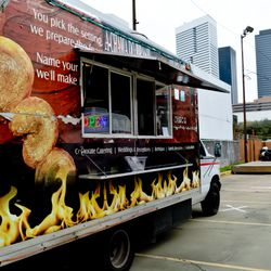 A Chama Do Brasil at the grand opening festivities for Houston Food Park's grand opening.
