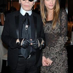 Karl Lagerfeld attends the CHANEL dinner hosted in honor of Blake Lively during Paris Fashion Week on March 5, 2011 in Paris, France.