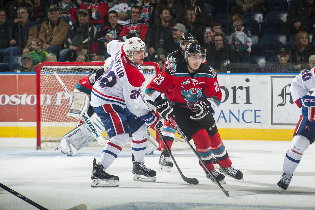 Justin Kirkland (shown here in regular season action) scored 4 points in Kelwona's 9-3 rout of Quebec.