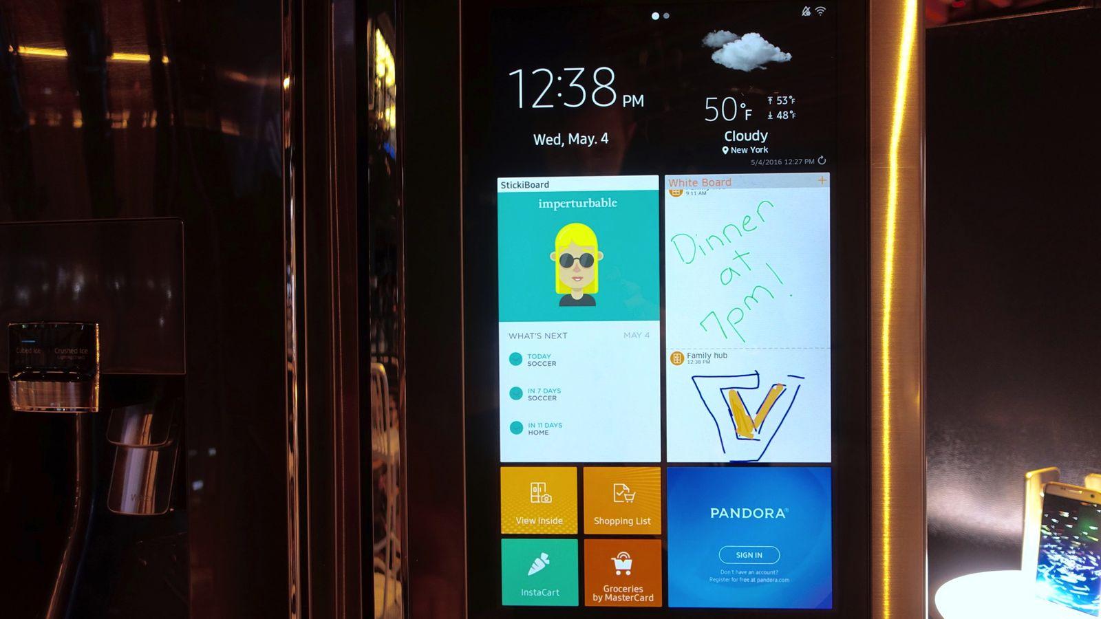 Samsung S Family Hub Smart Fridge Is Ridiculous Wonderful