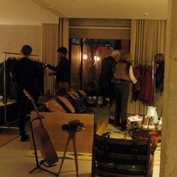 The scene at designer Brett Johnson's private showcase at the Ace.