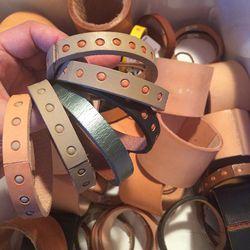Lauren Manoogian Leather bracelets, $5-$15
