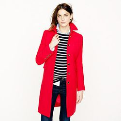 """<a href=""""http://www.jcrew.com/womens_category/outerwear/wool/PRDOVR~15839/15839.jsp"""">Double-cloth metro coat with Thinsulate</a>, $219.99 (was $325)"""