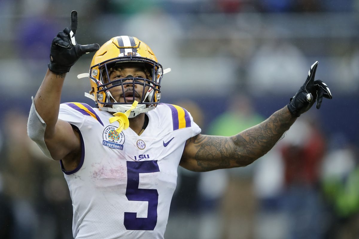 bafa361094b Photo by Joe Robbins Getty Images. Former LSU Tigers running back Derrius  Guice was selected at ...