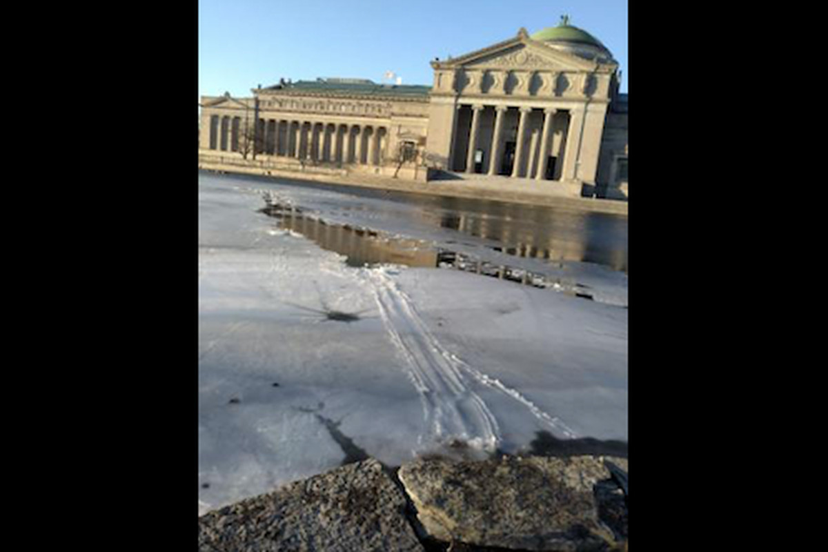 A woman fell through the ice Feb. 23, 2020, while trying to save her dog at the East Lagoon in Jackson Park.