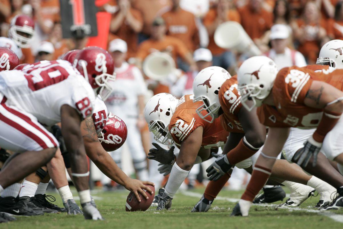 NCAA Football - Oklahoma vs Texas - October 8, 2005