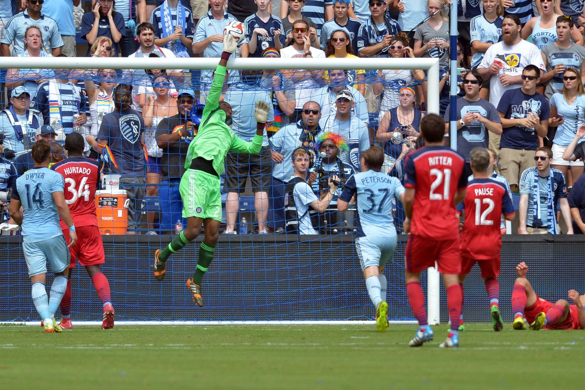 Sean Johnson's eight saves kept the Fire level today.