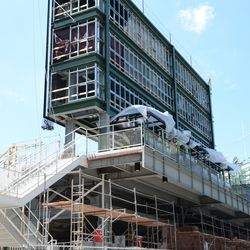 2:13 p.m. The back of the right-field video board -