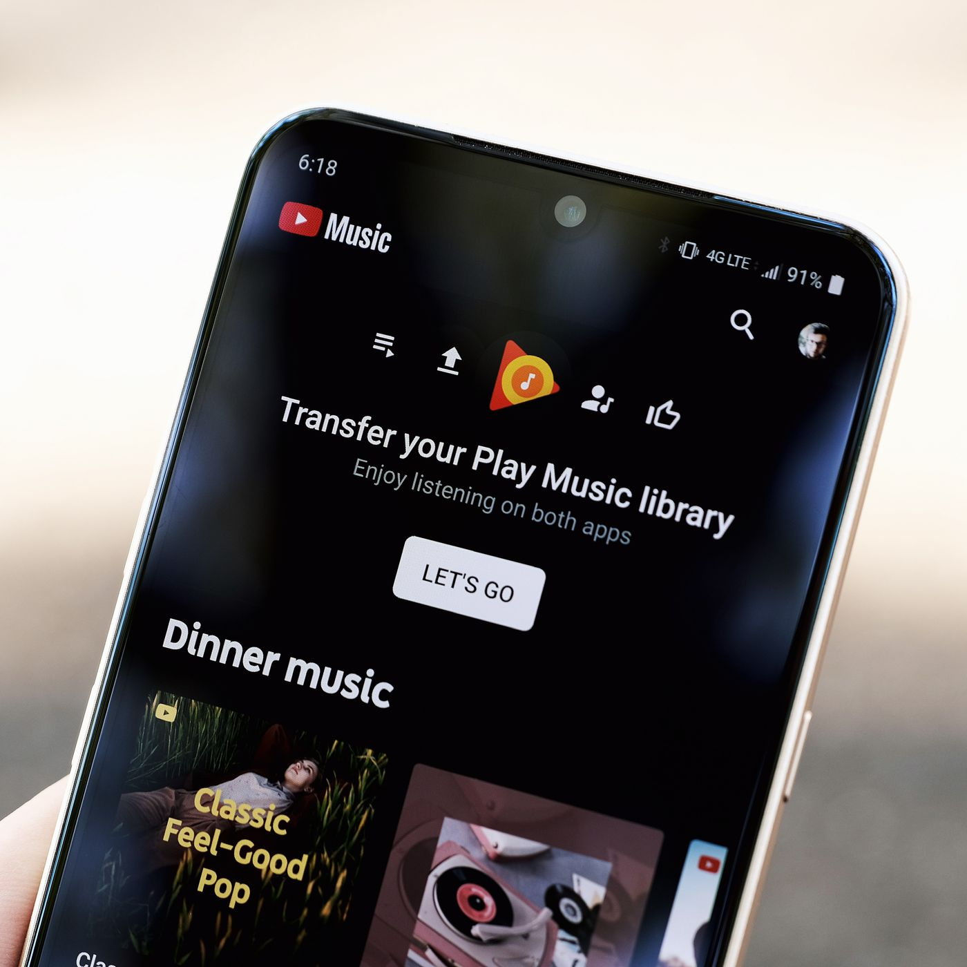 Youtube Music Can Finally Import Your Library And Uploads From Google Play Music The Verge