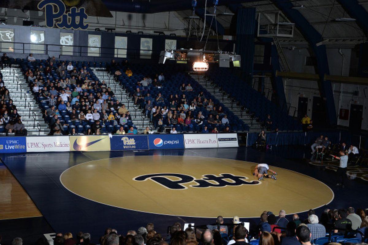 Pitt Wrestling Mat