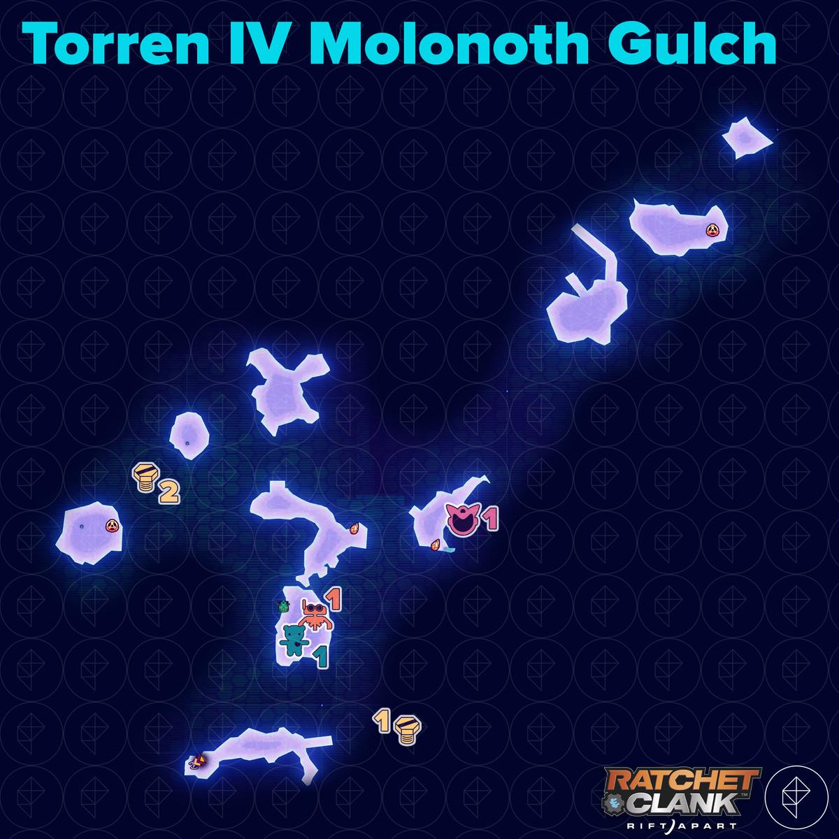 Ratchet & Clank: Rift Apart collectibles guide: Torren IV Molonoth Gulch