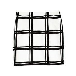 "<b>Tibi</b> Checkered Border Mini Skirt, <a href=""http://www.tibi.com/shop/features/op-art/checkered-border-mini-skirt#"">$250</a>"